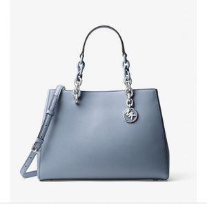 Michael kors pale blue satchel